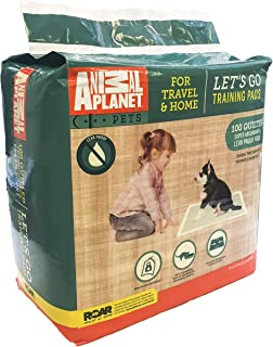 Animal Planet Pet Training Puppy Pads for Dogs - Super Absorbent, Tear-Resistant & Durable - 5 Layers with Leak Protection for Puppies