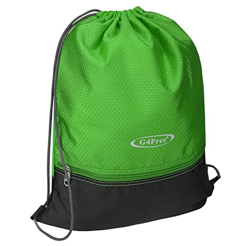 95ba0b13dbf6 G4Free Unisex Drawstring Backpack Gymsack Gym Bag Rucksack for Adults and  Teenagers Sports Bag School PE