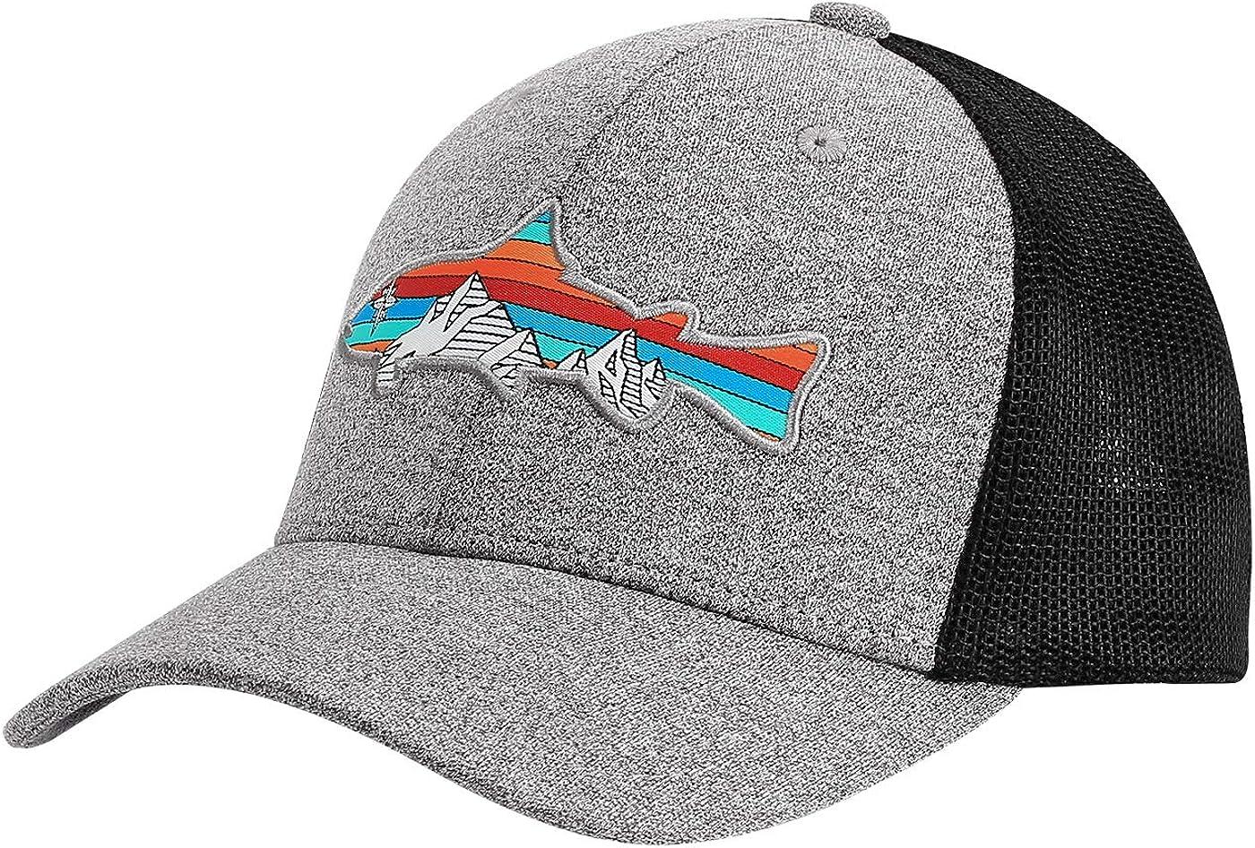 HDE Men Fishing Hats Trucker Ranking TOP4 Hat Fit Fitted Mesh Flexible Baseba Max 60% OFF