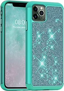 J&D Case Compatible for iPhone 11 Pro Case, Sparkling [Glittering] [ArmorBox] [Dual Layer] Shockproof Hybrid Protective Ru...