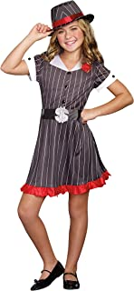 SugarSugar Girls Ally Capone Costume, One Color, Large, One Color, Large