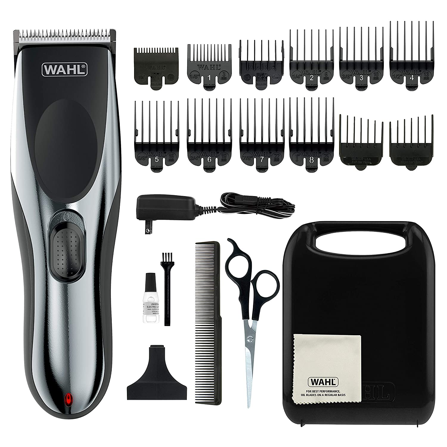 Wahl Clipper Rechargeable Cord/Cordless Haircutting & Trimming Kit for Heads, Beards, & All Body Grooming - Model 79434 : Beauty & Personal Care