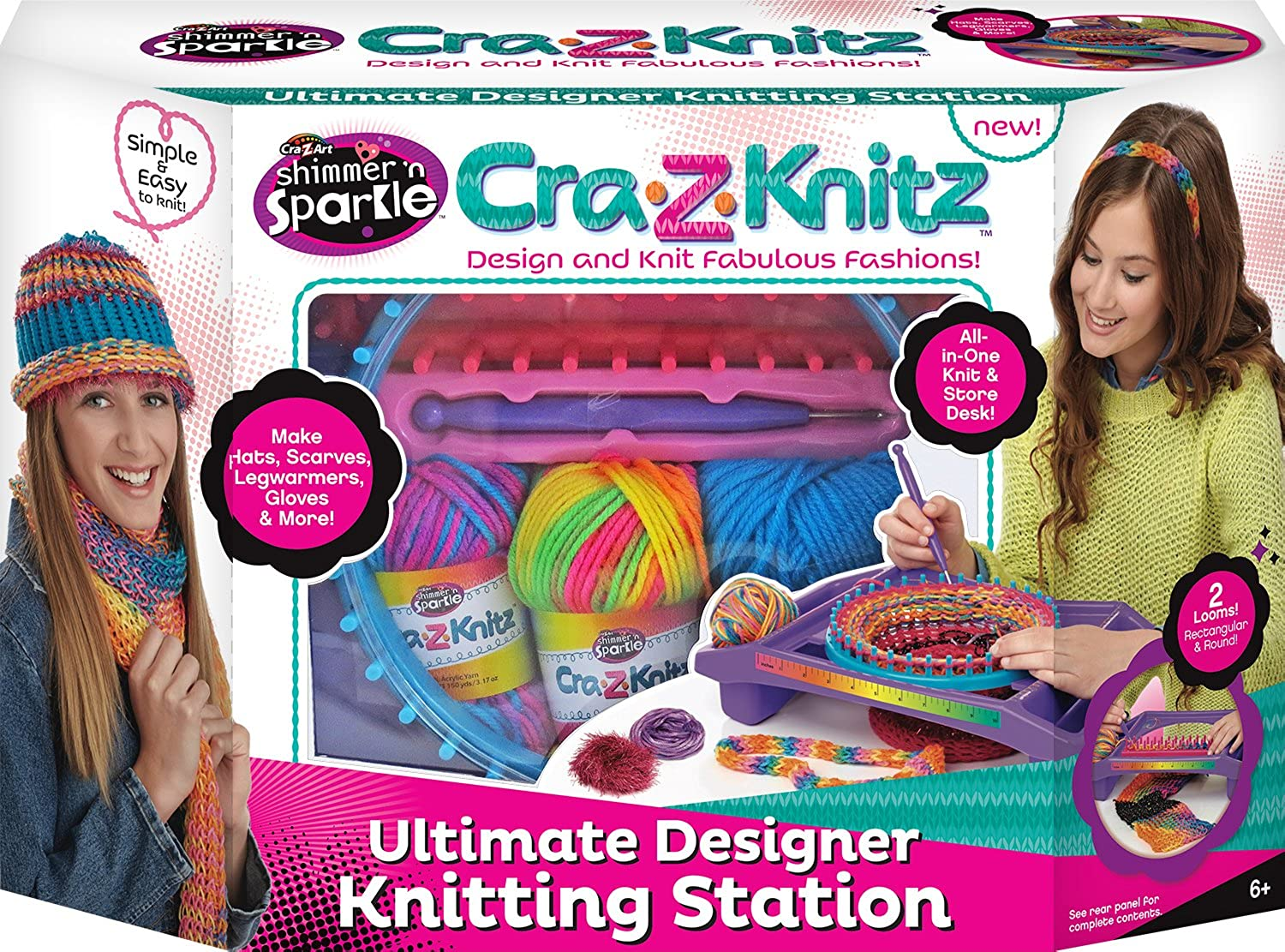 CraZArt CraZKnitz Knitting Station Neon Deluxe