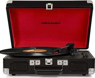 Crosley CR8005D-BK Cruiser Deluxe Bluetooth Portable Turntable, Color Negro