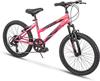 Huffy Kids Hardtail Mountain Bike for Girls, Summit Ridge 20 inch 6-Speed