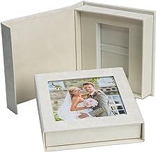 Elegante Disk Boda USB de Caja con Ventana. Color Blanco, Negro, Blanco Perla, Oro, Plata