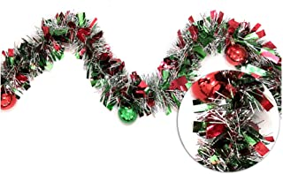 Brite Star 9ft Tinsel with Shatterproof, red-Green/Silver