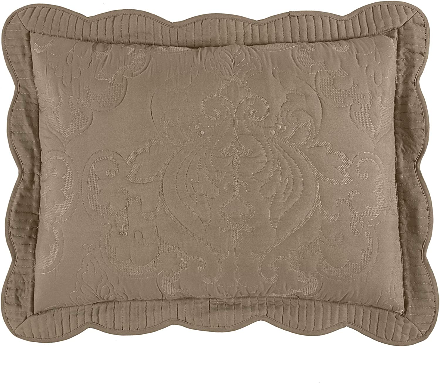 BrylaneHome Sales for sale Amelia Sham Max 77% OFF Pillow - King Beige Taupe