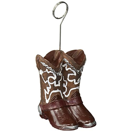 Cowboy Boots Photo Balloon Holder Party Accessory (1 count) de22f95a5547
