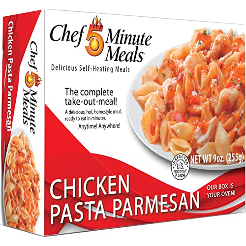 Chef 5 Minute Meals Chicken Pasta Parmesan Self-Heating Boxed Meal Kit