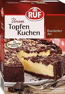 RUF Russischer Zupfkuchen mit Streusel-Teig und Quarkfüllung , 7er Pack 7 x 700 g Packung