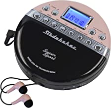 Studebaker SB3705PB Super Sport Portable CD Player Plays CDs wirelessly Through car Radio Includes FM Stereo Radio and Col...