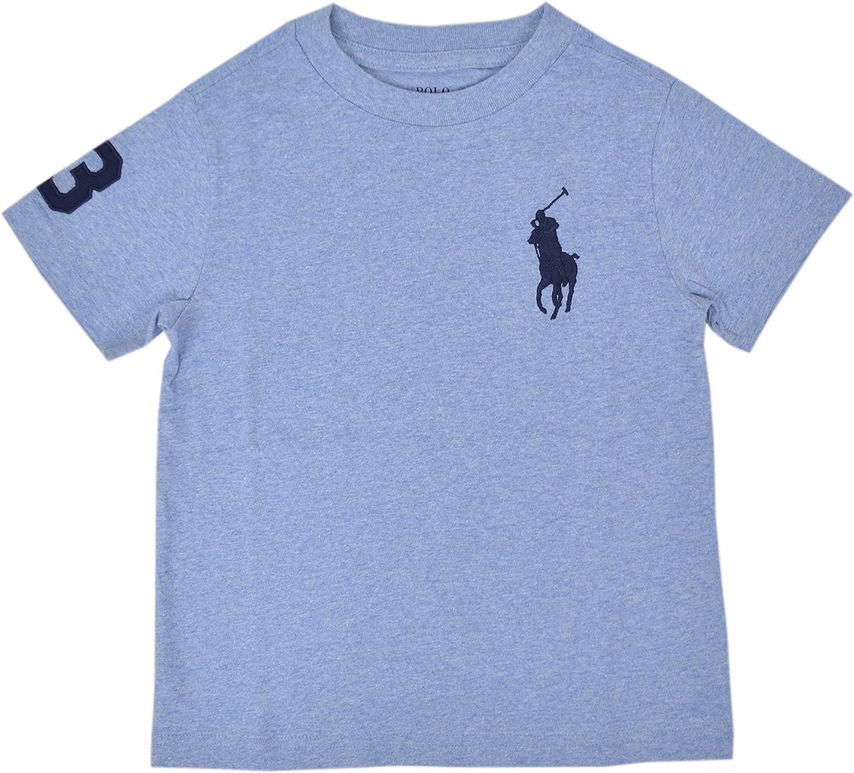 Boys Kids Big Pony Cotton Jersey Tee, Blue Heather