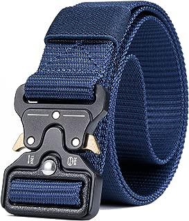 "Military Tactical Belt,Quick Release Buckle, Long 43""-55"",Heavy Duty Waist Belt"