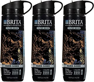 Brita Black Camo Hard Sided Water Bottle With Filter 23.7 Ounce (Pack of 3)