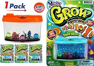 JA-RU Magic Grow Fish Aquarium, Grow in Water Magic Toy Plus 1 Bouncy Ball Bundle Sea Creatures   Item #306-1slp