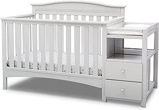Delta Children Birkley Convertible Crib and Changer, Bianca White