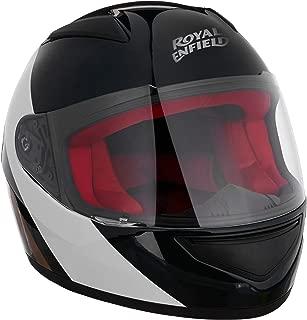 Royal Enfield Green & White Full Face With Visor Helmet Size (L)60 CM (RRGHEK000029)(Multicolor)