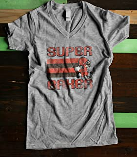Cleveland Super Baker Women's Fitted V Neck Shirt