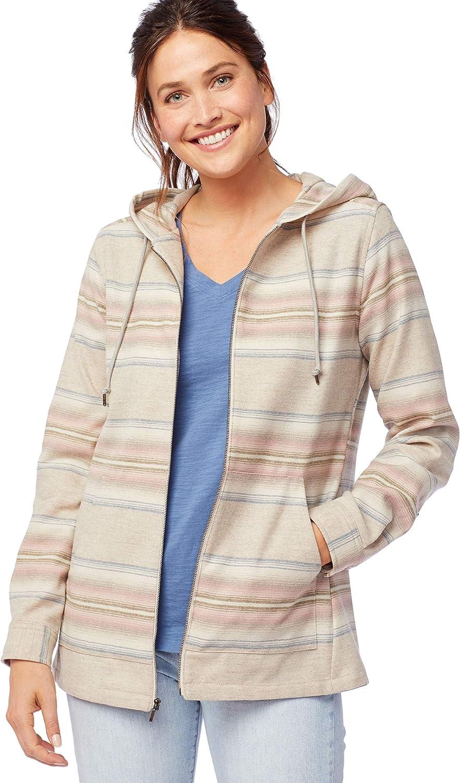 Pendleton Women S Wool Stripe Zip Hoodie At Amazon Women S Clothing Store [ 1500 x 882 Pixel ]