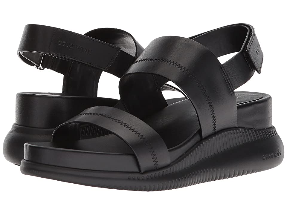Cole Haan 2.Zerogrand Slide Sandal (Black Leather/Black) Women