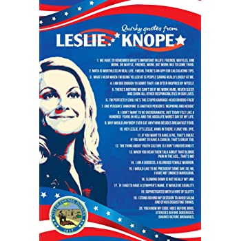 "Parks and Recreation Knope 2012 Poster- Cooltvprops Parks and Recreation Poster-Quirky Quotes Inspired by Leslie Knope- 24"" by 16"""