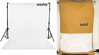 SHOPEE 8 x12 FT White LEKERA Backdrop Photo Light Studio Photography Background with Carry CASE - Camera Accessory