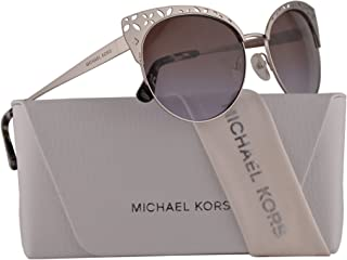 f9cc8b412a7 Michael Kors MK1023 Evy Sunglasses Silver w Brown Purple Gradient Lens 56mm  106368 MK 1023