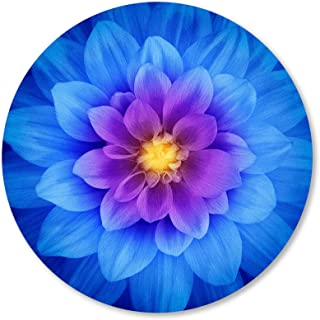 IMAYONDIA Mouse Pad, Blue Watercolor Lotus Flower Round Mouse Pad, Non-Slip Rubber Base Mousepad for Laptop Computer, Pers...