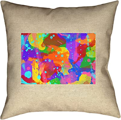 ArtVerse Katelyn Smith 28 x 28 Floor Double Sided Print with Concealed Zipper /& Insert Arizona Watercolor Pillow