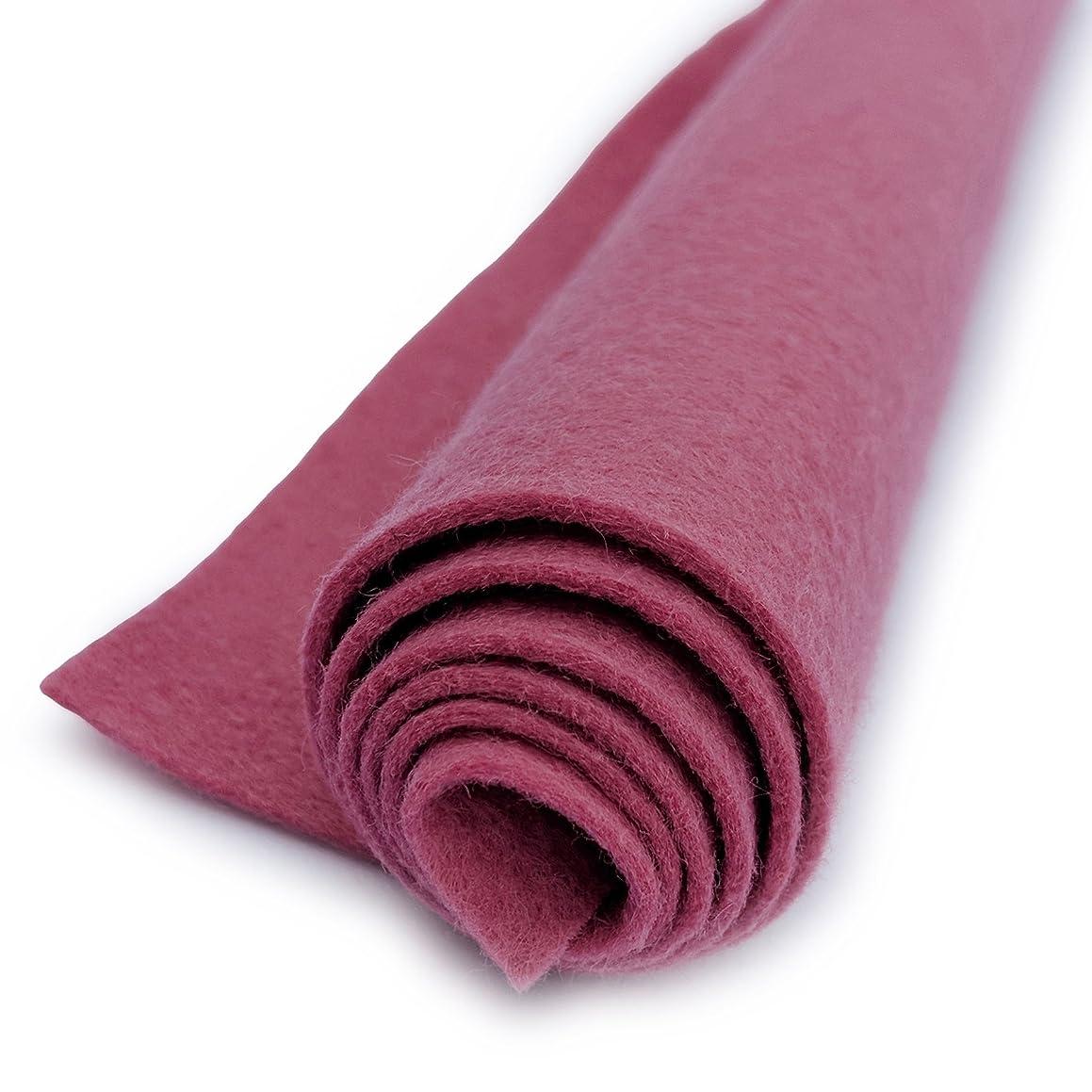 English Rose Pink - Wool Felt Oversized Sheet - 35% Wool Blend - 1 12x18 inch sheet