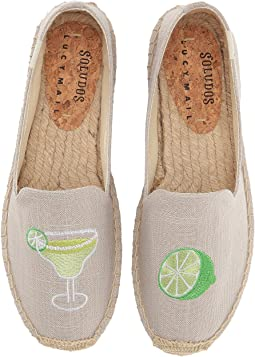 Soludos Margarita Platform Smoking Slipper