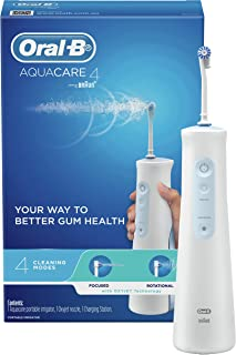 Oral-B Aquacare Irrigator 4 Water Flosser, Cordless & Rechargeable, Oxyjet Technology, 4 Cleaning Modes