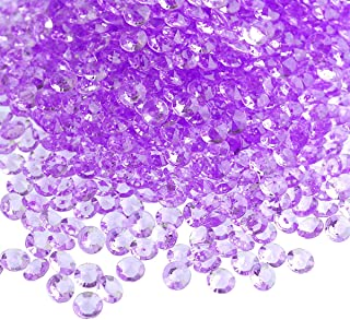 craftjoje 8MM 5000pcs Wedding Table Scattering Crystals Acrylic Diamonds Wedding Bridal Shower Party Decorations Vase Fillers(Light Purple)