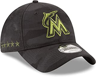 sale retailer 8e0d1 cb7bb New Era Authentic Miami Marlins Memorial Day 9TWENTY Adjustable Hat - Black  Camo