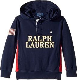 Polo Ralph Lauren Kids - Cotton Jersey Hooded Rugby (Little Kids/Big Kids)