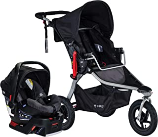BOB Gear Rambler Jogging Stroller + Travel System with B-Safe 35 Infant Car Seat | Smooth Ride Suspension + Easy Fold + XL Canopy Coverage, Birth to 75 Pounds, Black [New Logo]
