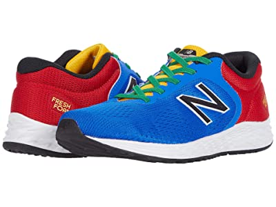 New Balance Kids Fresh Foam Arishi v2 Bungee (Little Kid/Big Kid) (Cobalt/Team Red) Boy