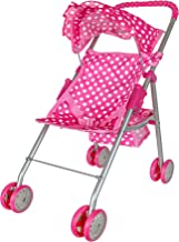 Best Precious Toys Pink & White Polka Dots Foldable Doll Stroller With Hood Review