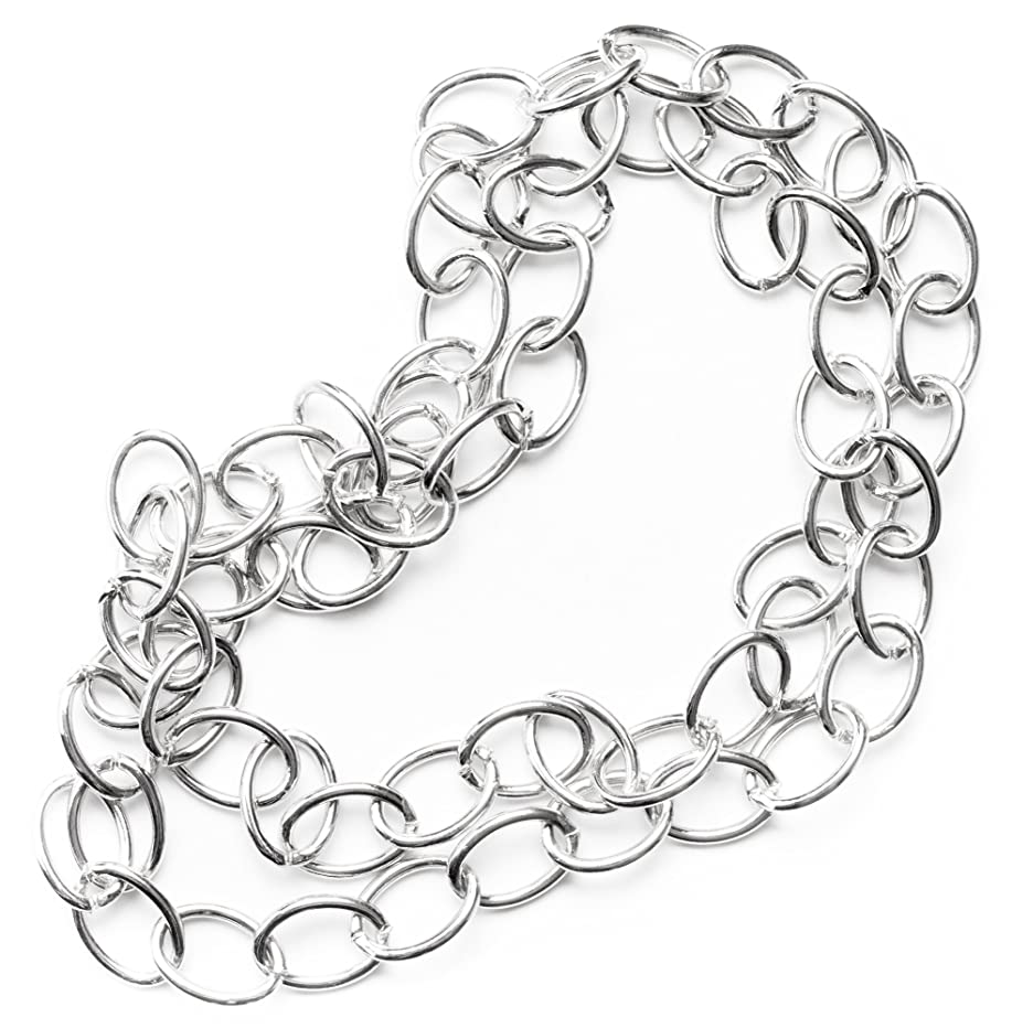 Large Oval Link Silver Chain - 30in