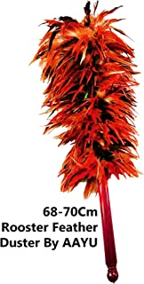 AAYU red Rooster Chicken Feather Duster 26