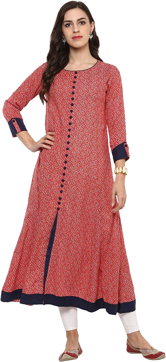 YASH GALLERY Indian Tunic Tops A-L Women's OFFicial store Print Dallas Mall Geometric Rayon