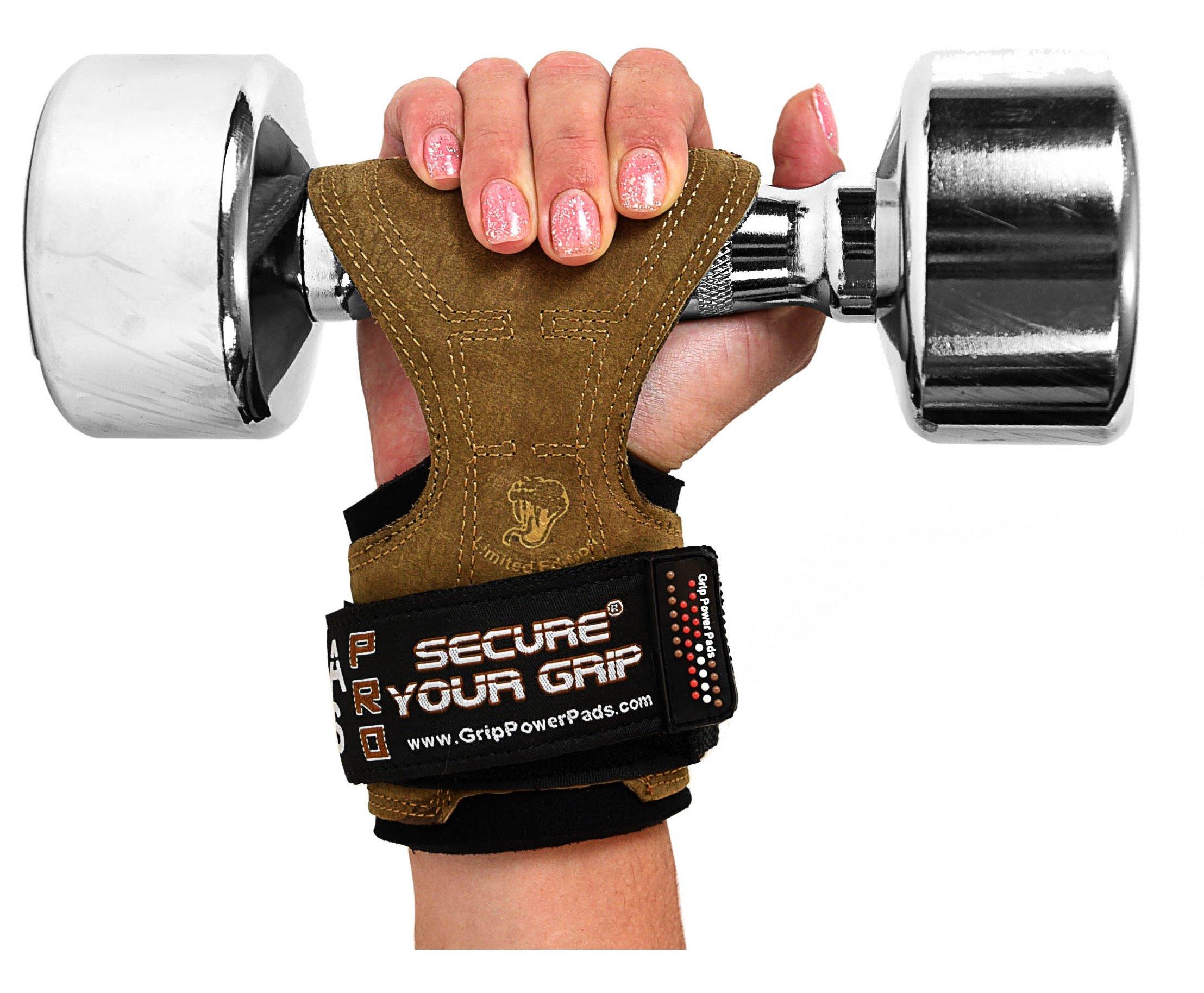 Grip Power Pads Cobra empuñaduras Levantamiento de Pesas Guantes para Trabajo Pesado Correas de elevación de Potencia Alternativa Ganchos de Levantamiento de Pesas Culturismo: Amazon.es: Deportes y aire libre