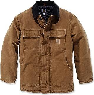 Men's Big & Tall Arctic-Quilt Lined Sandstone Duck Traditional Coat C26