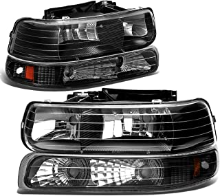 DNA Motoring HL-OH-CS99-4P-BK-AB Headlight Assembly, Driver and Passenger Side