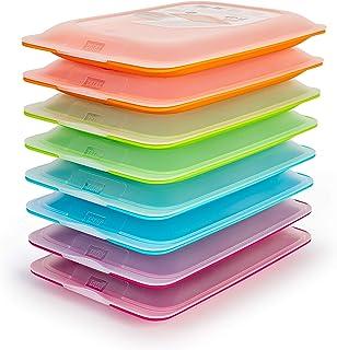 TATAY Lot 8 Porte à Charcuterie et Aliments Fresh en Couleurs Assorties Bleu, Orange, Vert et Rose, Dimensions: 17 x 3.2 x...