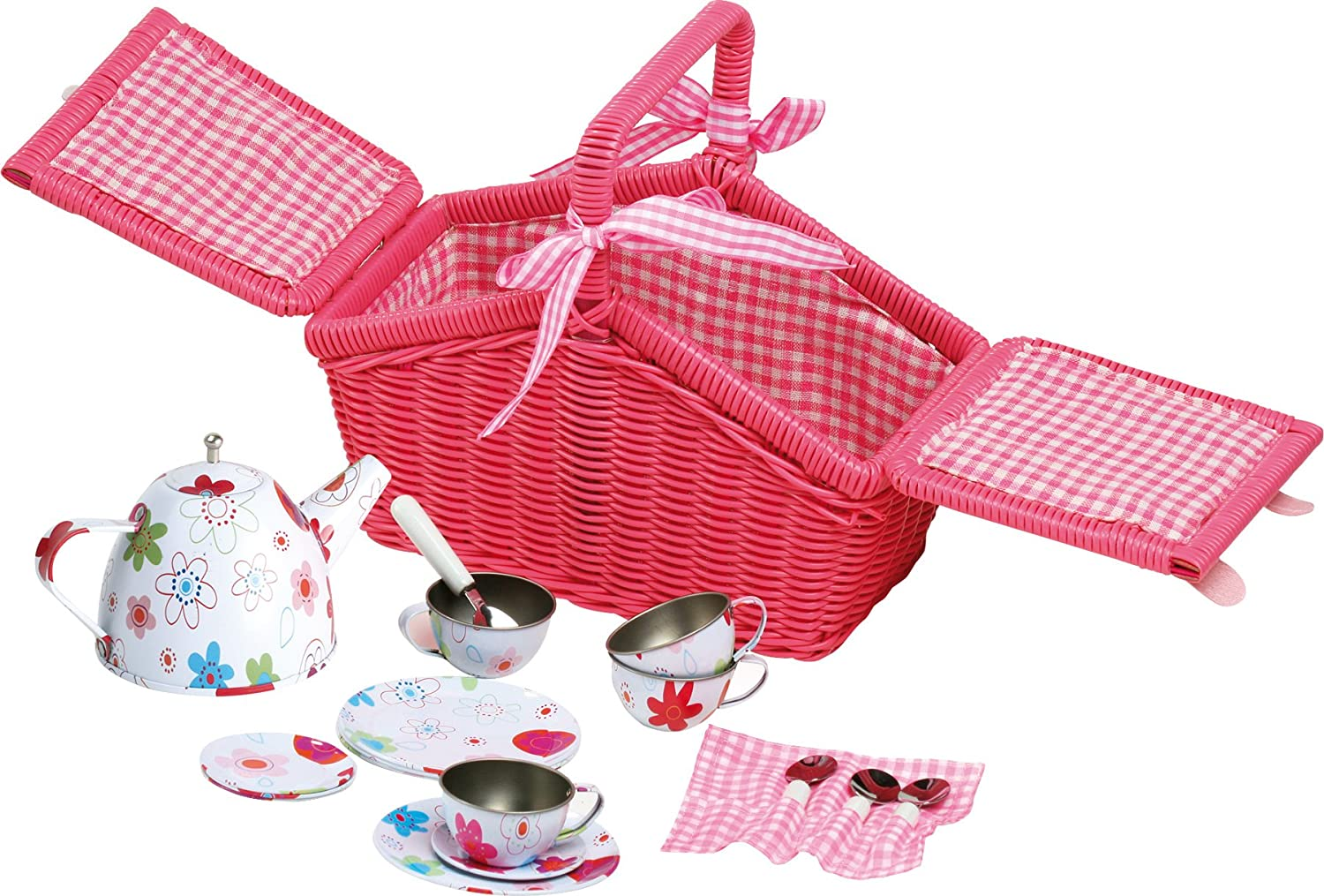 Credence Legler Picnic Basket Play Set with Pieces 18 High quality new