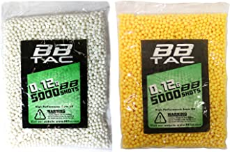 BBTac Airsoft BBs .12g Ammo 6mm (10,000 Round Bag, Multi Colors)