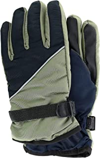 CTM Boy's 8-18 Two Tone Ski Glove with Gripper Palms