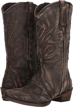 Brown Sanded Leather Vamp